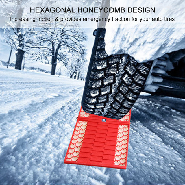 2Pcs/ lot Car Emergency Escape Plate Traction Mat Tire Grip Aid Foldable Non-Slip for Most SUVs Cars Vans from Snow Ice Mud Sand