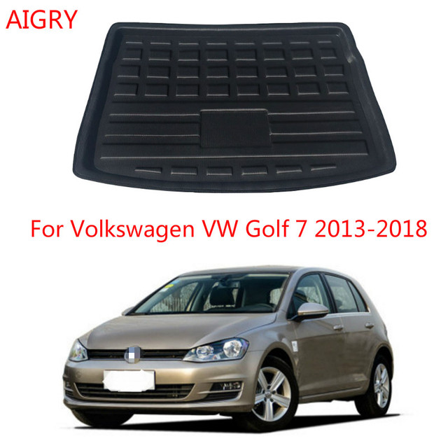 Rear Trunk Cargo Mat For Volkswagen VW Golf 7 MK7 Hatchback 2013 -2018 Boot Cargo Liner Tray Floor Mat Carpet Mud Pad Protector