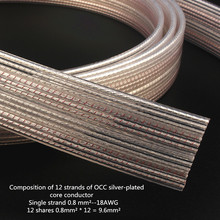 Xangsane High Quality Hifi Music Ribbon Wahala Microspace Speaker Cable Scatter Line OCC Silver Plated Audio Cable