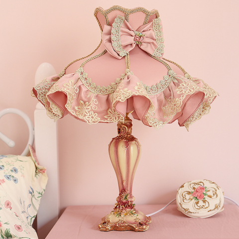 Modern Pink Table Lamps For Bedroom, Girly Table Lamps