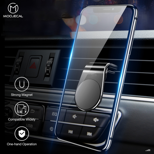Magnetic Car Holder For Phone Air Vent Clip Mount Metal Voiture Support Magnet Mobile Stand For iPhone XS Max Samsung GPS in Car