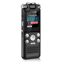 Digital Audio Voice Recorder Pen Mini Lossless Color Display Activated Sound Dictaphone MP3 Player Recording Noise Reduction
