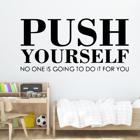 Hot Sale Sentence Quote Wall Sticker For Kids Room Decor Motivation Stickers For Wall Office Room Wallpaper Decals Mural Buy Cheap In An Online Store With Delivery Price Comparison Specifications Photos