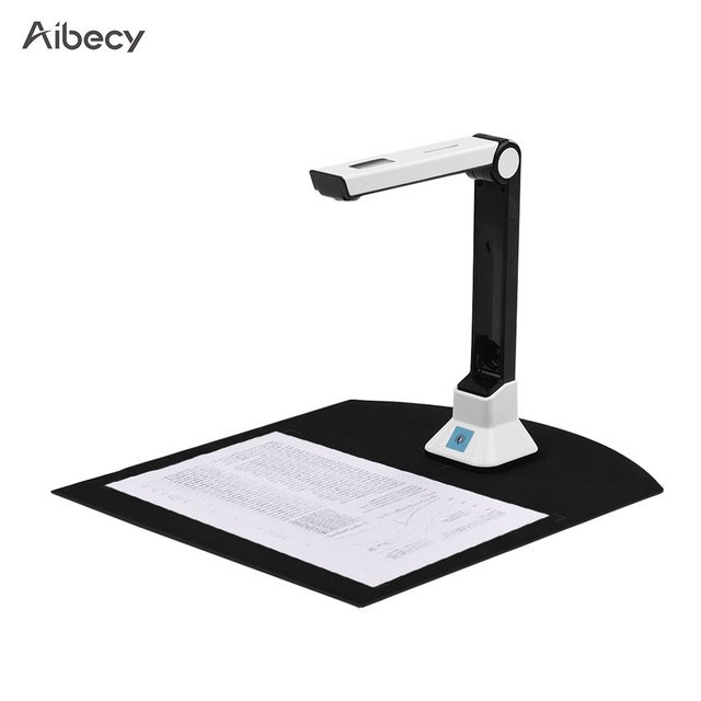 Aibecy BK50 Portable 10 Mega-pixel High Definition Book Scanner Capture Size A4 Document Camera for File Recognition Scanner