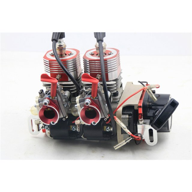 52cc or 58cc twin-cylinder R/C Boat gas Engine