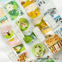 Pet Washi Tape Cute Decorative Adhesive Tape Season Color Masking Tape For Stickers Scrapbooking DIY Stationery Tape