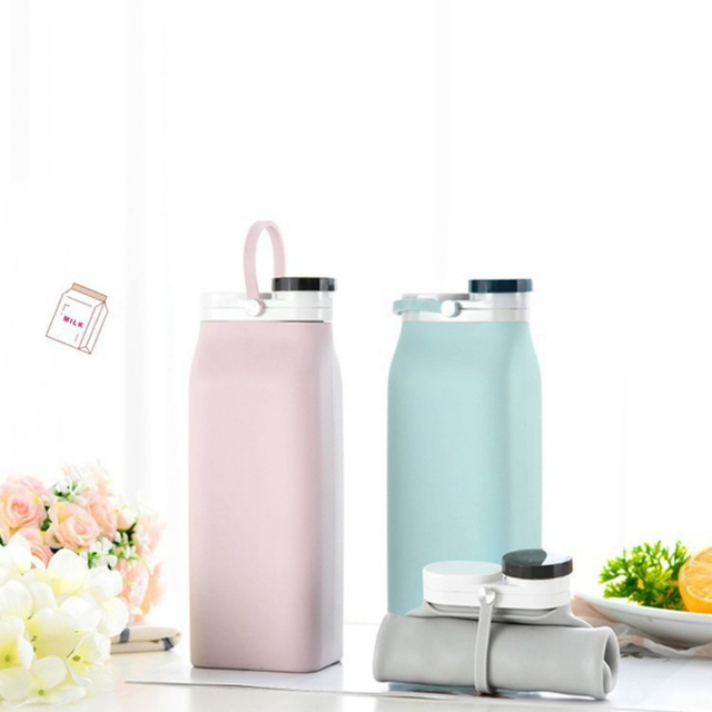 600ML Reusable Sports Travel Portable Collapsible Folding Drink Water Bottle Kettle Outdoor Sports Water Bottle