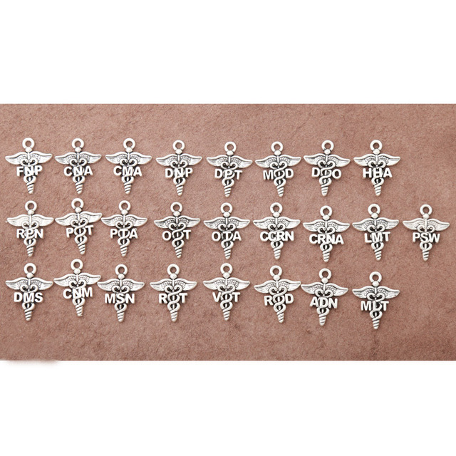 RAINXTAR Mixed Design 25 styles Religious Medical Charms each one 2pcs 19*23mm AAC-MIX1