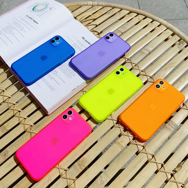 Candy Color Matte Frosted TPU Silicone Soft Phone Case for iPhone 11 Pro 7 8 Plus SE 2020 Xs Max XR X 12 Mini Transparent Cover