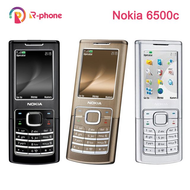 Original Refurbished Nokia 6500c Classic Mobile Phone 3G Unlocked 6500 Cellphone & Silver & One year warranty
