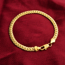 High Quality Silver Gold Chain Bracelets for woman man's 925 Free shipping Factory price fashion jewelry 5mm Bracelet