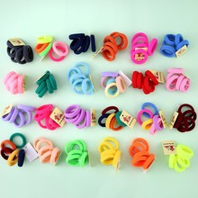 5pcs/lot new Lovely style kids Elastic Hair Bands 5 colors mixing Children's Head rope hair accessories for girls