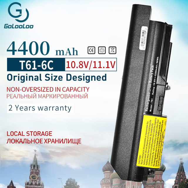 Golooloo Laptop Battery for Lenovo Thinkpad T61 R61 R61i R61e R400 T400 Series(14-inch wide)