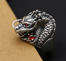 925 Sterling Silver Mens Biker Dragon Ring Rings Jewelry size 6-12 A3939