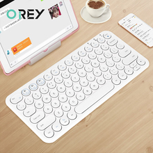 Round Keycap Bluetooth Keyboard Wireless Silent Gaming Keyboard For Macbook Pro iPad iPhone Tablet Ultra-slim Computer Keyboard