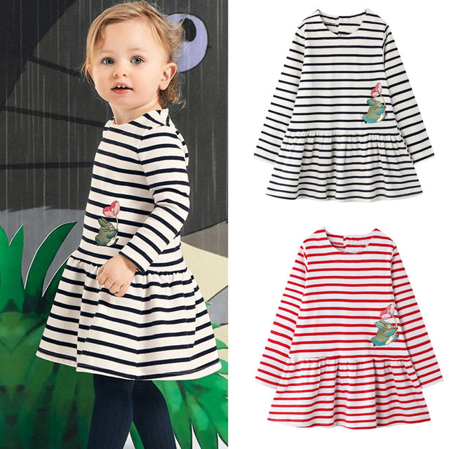 dress girl dress vestidos kids dresses for girls vestido infantil halloween christmas dress vestido menin Long Sleeve Striped Z4