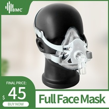 BMC CPAP Mask FM1A Full Face Mask For CPAP Bipap Machine COPD Snoring Size SML Connect Face And Hose With Headgear