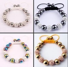 fg54st  micro pave CZ Disco Ball Beads    Bracelet fasion Gift jewelry Discount  crystal