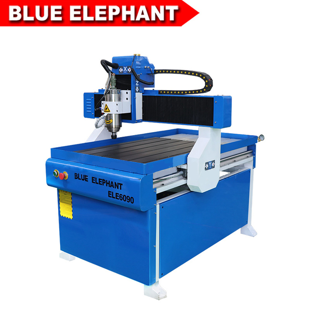 Blue Elephant cnc router 6090 1212 3d carving cnc router machine 6090 with 3kw water cooling spindle