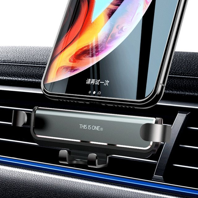 25.5mm New Gravity Car Holder Phone in Car Air Vent Clip Mount No Magnetic Mobile Phone Holder GPS Stand For iPhone XS X Xiaomi