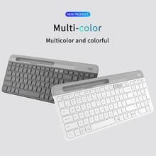 Logitech K580 Wireless Keyboard Ultra-thin 2.4GHz Bluetooth Office Keyboards Unifying Dual Mode Multi-Device for Computer Tablet