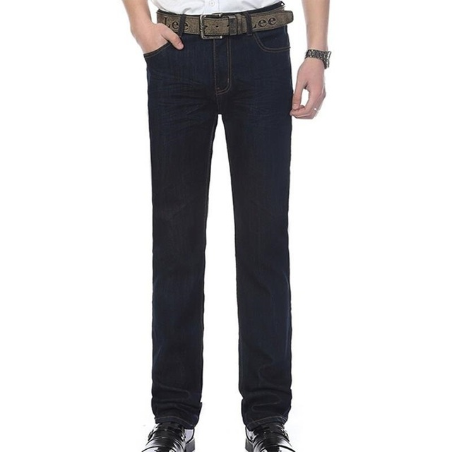 Free Shipping High Quality Men's Large Size Straight Jeans Male Fashion Business Denim Long Straight-leg pants Pants Trousers