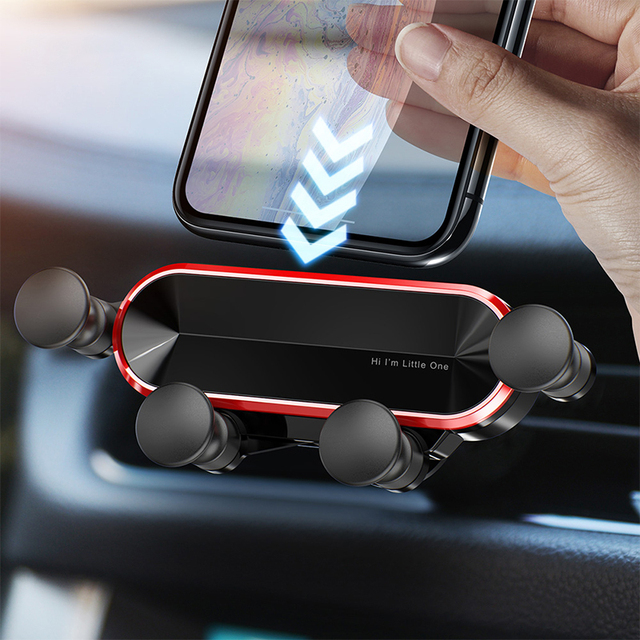 2020 NEW Gravity Car Holder For Phone in Car Air Vent Clip Mount No Magnetic Mobile Phone Holder GPS Stand For iPhone MAX Xiaomi
