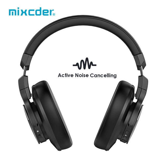 Mixcder Bluetooth Headphones  With Mic Handsfree Over Ear Headset For Android IOS Active Noise Cancelling Wireless Headphones