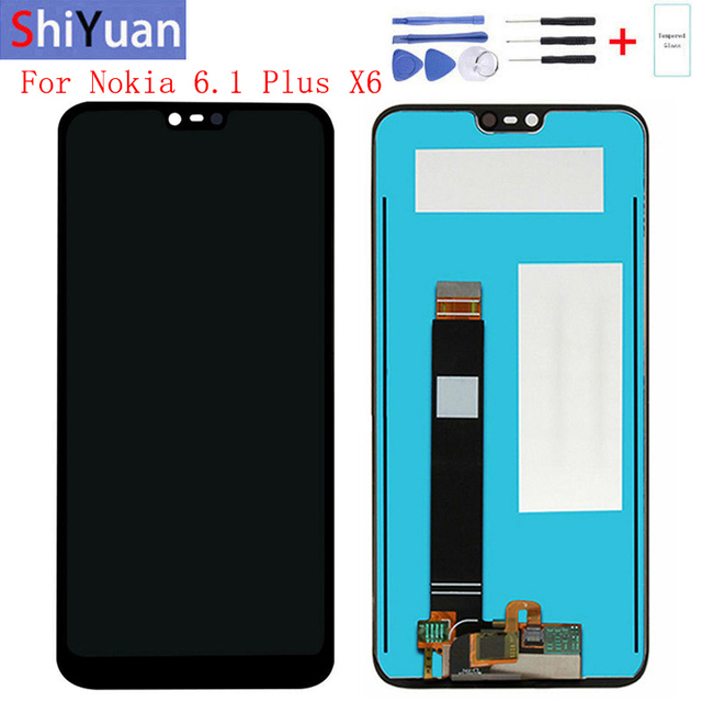 Touch Screen LCD-Display For Nokia X6 6.1 Plus Digitizer Assembly Replacement Spare Repair Parts TA-1099 TA-1103 TA-1083 TA-1099