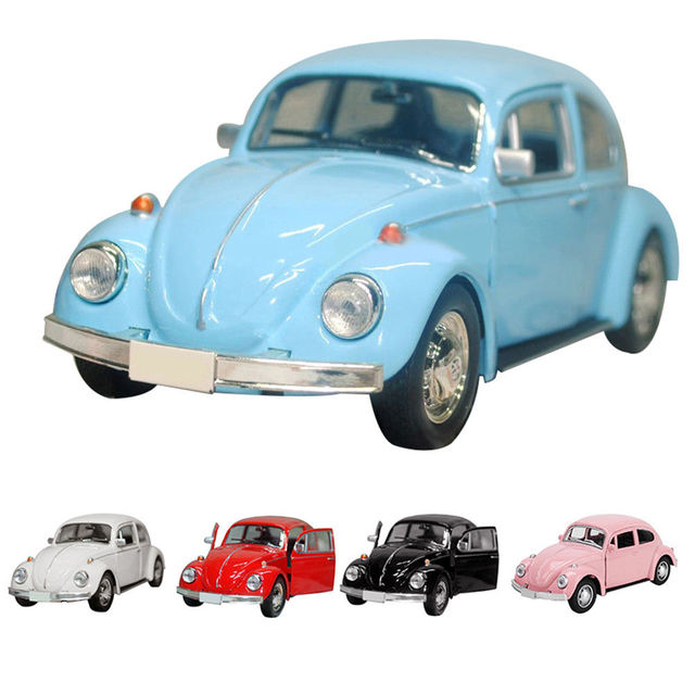 2019 Newest Arrival Retro Vintage Beetle Diecast Pull Back Car Model Toy for Children Gift Decor Cute Figurines Miniatures