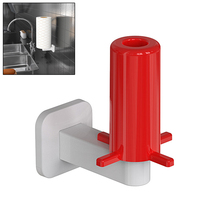 Wall Mount Paper Towel Holder Adhesive No Drilling Tissue Paper Towel Roll Holder for Kitchen Bathroom Toilet Paper Dispenser