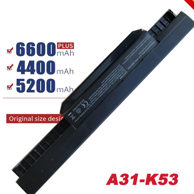 Laptop Battery for Asus ASUS K53 Series A31-K53 A32-K53 A41-K53 A42-K53 battery 6Cell Li-ion