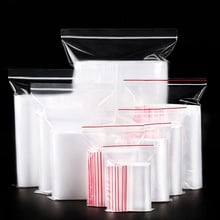 100pcs/pack Small Zip Lock Plastic Bags Vacuum Storage Bag Resealable Transparent Bag Shoe Bag Poly Clear Bags Jewelry Ziplock
