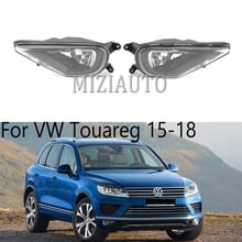 Car Light fog light For VW Touareg 2015 2016 2017 2018 Front Halogen Fog Lights Fog Lamp With Bulbs Car-styling