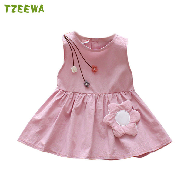 2019 Summer Baby Dress For Girls Kids Clothes Flower Toddler Girl Dress Birthday Party Costumes Baby Girl Clothes Kids Dresses