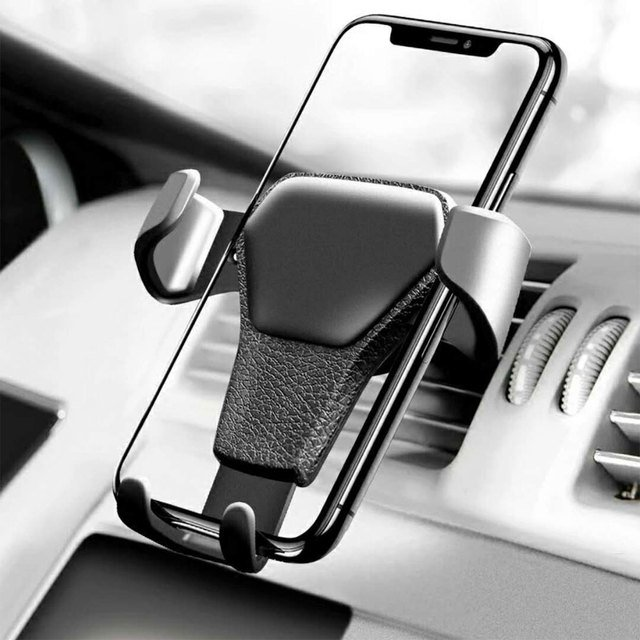 Car Holder in Car Air Vent Clip Gravity Clamping Mount No Magnetic Mobile Phone Holder Cell Stand Support For iPhone Samsung