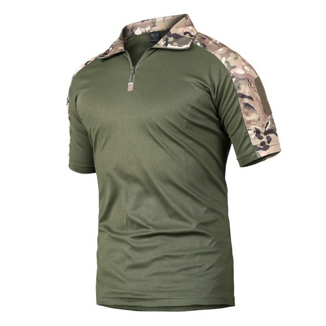 Men T Shirt Camping Tactical T Shirt Short Sleeve Military Camouflage Quick Dry T Shirt Tee Shirts Hunt Clothes