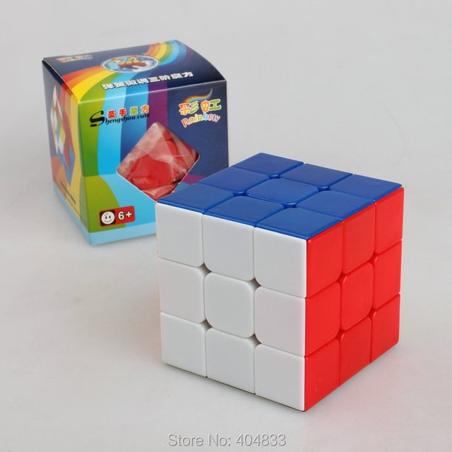 shengshou Rainbow 3x3 cube Cubo Magico Speed Cube Twist Puzzle Educational Toy for Children  Drop Shipping