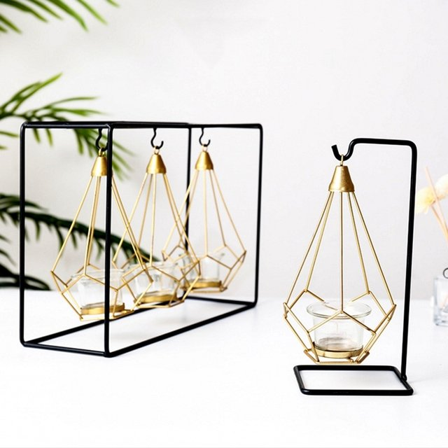 Creative Nordic Light Luxury Candle Holder Table Romantic Wedding Candlelight Dinner Props