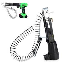Automatic Electric Drill Nozzle Adapter Nail Exit Bracket And Chain Nails Kit Household Tools Set Chain Nail Machine Accessories