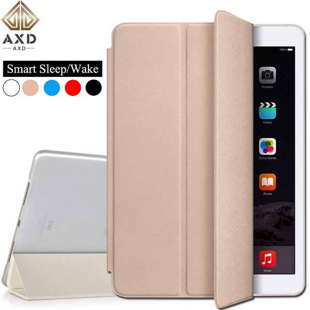AXD Flip leather case for Samsung Galaxy Tab A 8.0-inch 2017 fundas smart sleep Wake cover Stand capa For T385 T380 A2S LTE Wifi