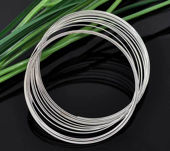 200 Loops Memory Beading Wire for Bracelet Jewelry 55mm (B09062)