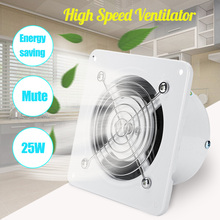 warmtoo 220V 4 inch Extractor Exhaust Fan Air Ventilation Fans Ventilator 25W Wall Window For Toilet Bathroom Kitchen