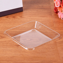 100 Pcs Transparent Tray Disposable Premium Fresh Fruit Tray For Coffee Table Breakfast Tea Food Butler Home Kitchen Use