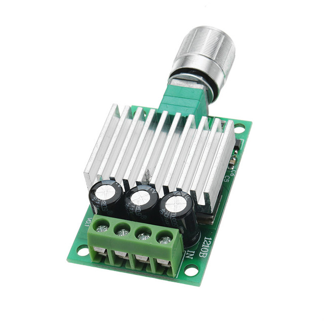 CLAITE DC 12V To 24V 10A High Power PWM DC Motor Speed Controller Regulate Speed Temperature Dimming