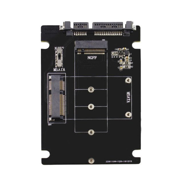 S107-RTK Adapter Card Expansion Card All 2 in 1 Converter /Adapter Support mSATA/M.2 NGFF SSD Solid State Disk for Desktop