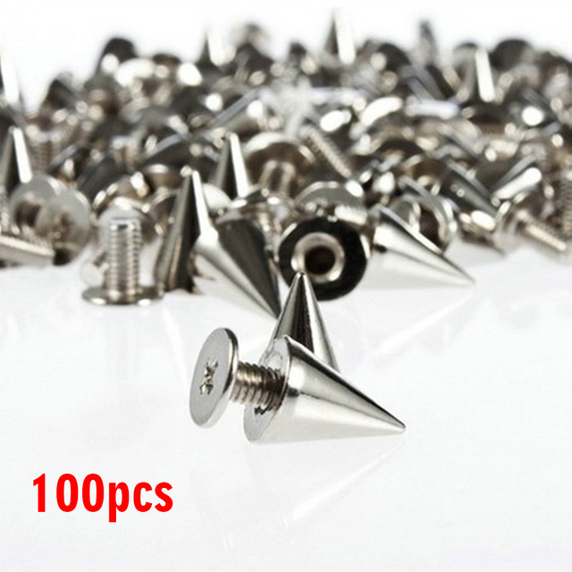 100pcs Garment Rivets 10mm Metal Rivets DIY Punk for Leather Shoes Bags Bracelet Rapid Studs Jackets Decorative Handcraft Tools