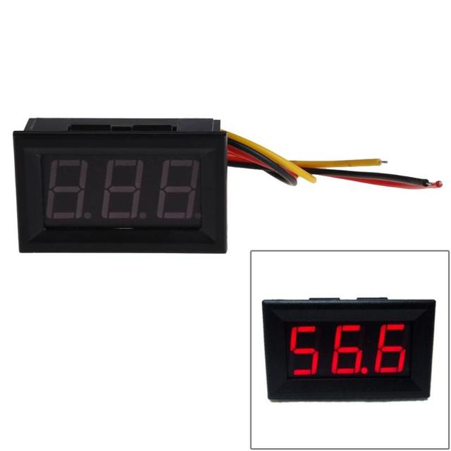 NEW Red LED Panel Meter Mini Digital Voltmeter DC 0 to 99.9V LED Display Low Power Consumption Panel Meter Measuring Tool Accs