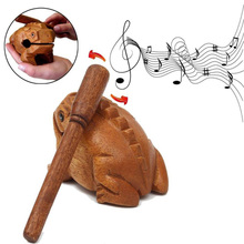 Wooden Lucky Frog Toy Animal Money Frog Clackers Kids Musical Instrument Percussion Toy Gift children toys