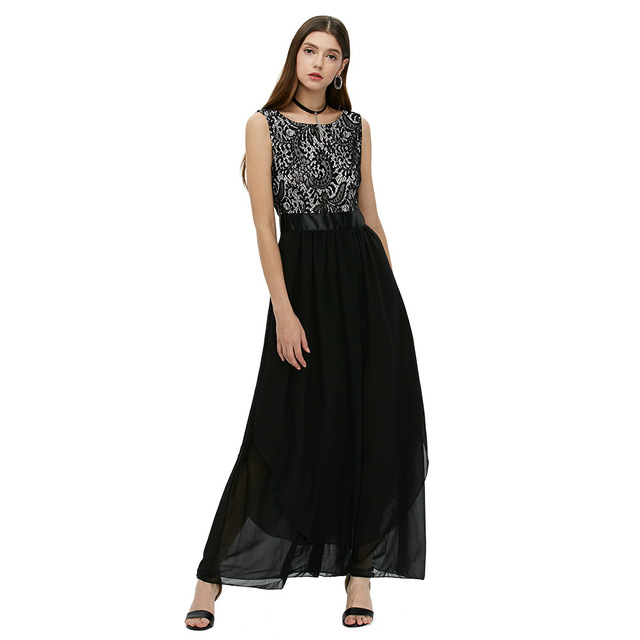 Party Vintage Dress Female Vestido Longo Elegant Long Summer Dress Patchwork Sexy Open Back Lace Maxi Dress Robe Femme On Sale